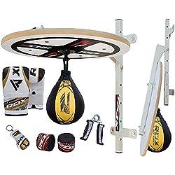 RDX 10PC Boxing Speed Ball Heavy Platform MMA Maya Hide Leather Punching Bag Stand Workout Training