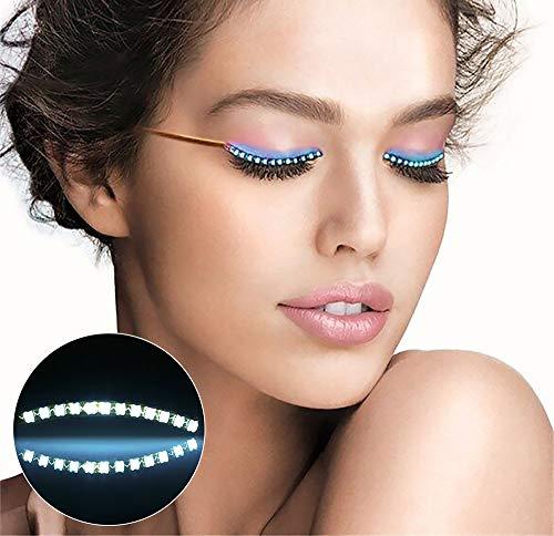 Vivi LED Eyelashes Light, 8 Modes Watertight LED Eyelash Lights for Party, Halloween, Weihnachten, Night Club Pub Bar Konzerte Geburtstag,Pink