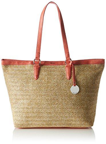 Tamaris Damen Neve Shopping Bag Schultertasche, Mehrfarbig (Coral Comb.), 16x33x53.5 cm (Coral Hobo)