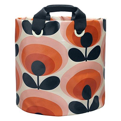 Orla Kiely Große 70er Blume, Oval, Permission Design Stoff Pflanzentasche -Mehrfarbig - Persimmon Blume