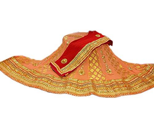 Rajasthani pure georgtte with zari work original dollar boutie lehenga running lahnga...