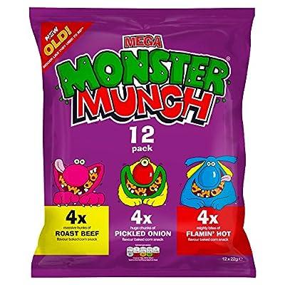 Monster Munch Variety Snacks, 22 g, Pack of 12