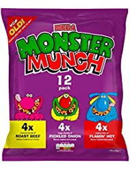 Monster Munch Variety Snacks, 22 g, Pack of 12