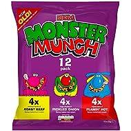 Walkers Monster Munch Variety Snacks, 22 g (Pack of 12)