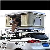 XPHW Auto-Dachzelt 2-3 Erwachsene Imprägniern Automobildachspitzen-Zelt ABS Shell, Mit Verlängerungs-Leiter Und LED-Licht