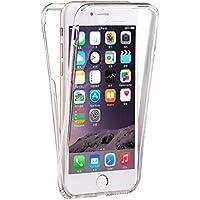 Coque silicone gel intégral iphone 6 / 6s transparent,texturé