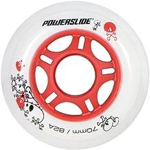 Powerslide - Rueda infantil para patines de fitness blanco smokey Talla:76mm/80A