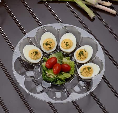 Eierschale aus Hartplastik, für 9 Eier geeignet, 23 cm Devilled Egg Tray