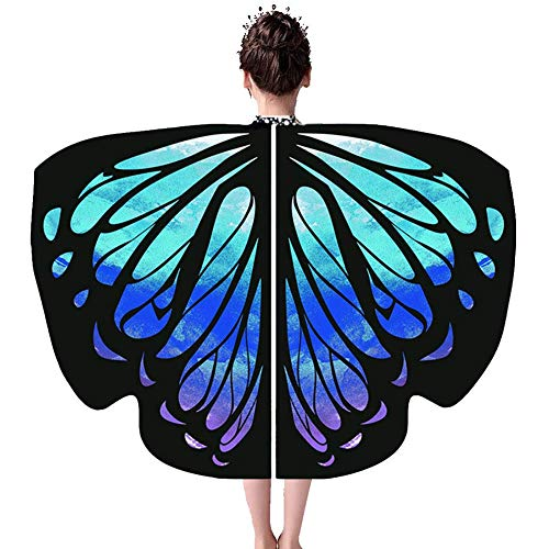 Butterfly Prinzessin Kostüm Kind - ChYoung Kinder Regenbogen Kinder Schmetterling Flügel