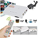 Cewaal TV-Box, (EU-Stecker) 1080P DVB-T T2 TV Box HDMI AV Audio HDTV-Receiver mit Fernbedienung Kabel