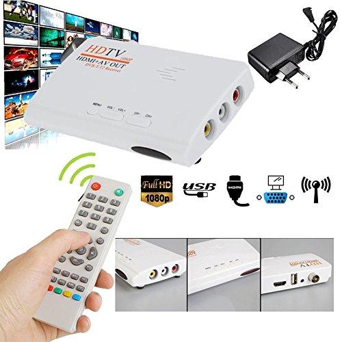 Mov Wmv Zu Konverter (Anyutai (EU-Stecker) TV-Box, 1080P DVB-T T2 TV-Box HDMI AV-Audio-HDTV-Receiver mit Fernbedienung Kabel)