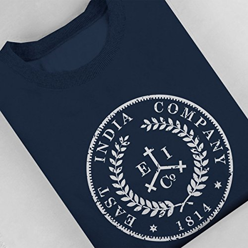 Taboo East India Company Coin Logo Distressed Style Women's Sweatshirt Navy blue
