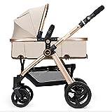 ERRU- Passeggino pieghevole/può sedersi leggermente in giù due vie leggermente trasportando Inverno e estate Doppio Uso carrello Baby Champagne Oro colore Per genitori che vogliono viaggi di moda