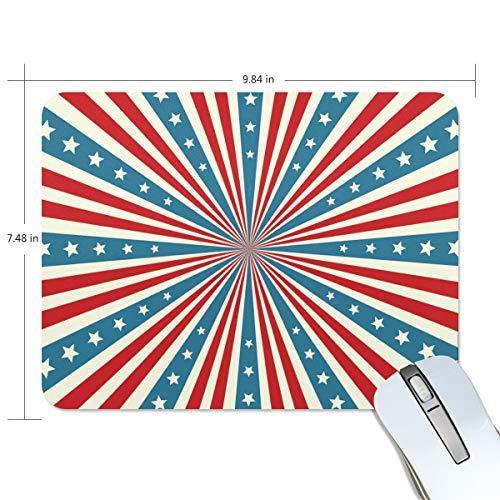 FANTAZIO Mauspad, amerikanische Flagge, gestreift, dicke Computer-Tastatur, rutschfeste Gummiunterseite, Mauspad für PC Gaming oder Arbeiten