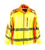 Sicherheits-Softshell-Jacke, entspricht EN ISO 20471/2013, wasserabweisend, atmungsaktiv, winddicht, gelb, lieferbar in den Größen L bis 4x XL (L)