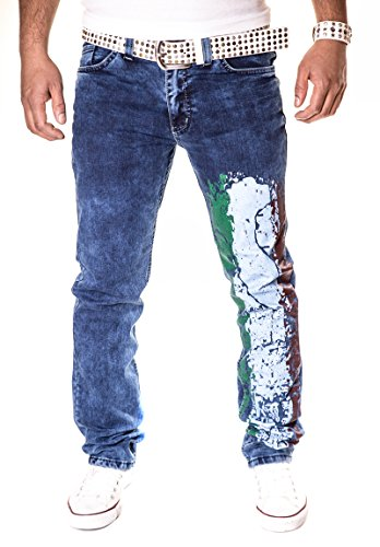 HERREN JEANS HOSE STRAIGHT CUT FIT STRETCH W29-W38 3131 Hell