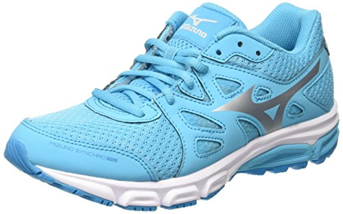 Mizuno Synchro Md Scarpe Sportive da Donna, Colore Blu (Blue Atoll/Silver/Dark Shadow), Taglia 39 EU (6 UK)
