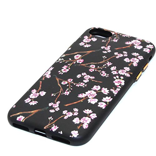 iPhone 7 Plus Case,August 3D Emboss Pattern Flower TPU Soft Case Rubber Silicone Skin Cover for iPhone 7 Plus A6