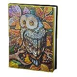 Liying Neu Retro Notizbuch Tagebuch Reisetagebuch Kladde Hardcover DIN A5 80 g/mliniertes 200 Seiten