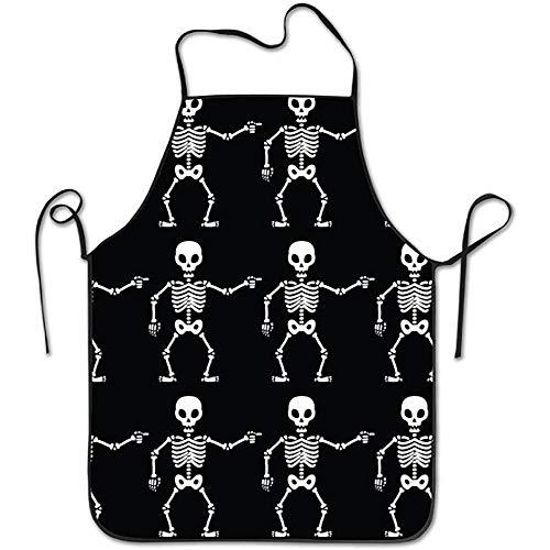 kslae Skeleton Boy Kitchen Schürzen Unisex Schürzen Funny Apron for Chef Kitchen