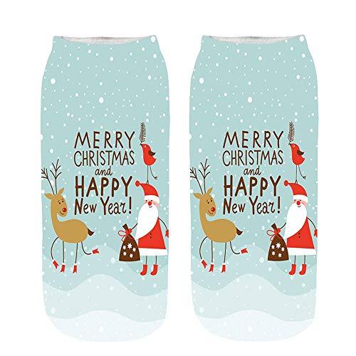 MIRRAY Unisex Söckchen Herren Damen Jungen Mädchen 3D Cartoon Lustige Weihnachten Verrückte Nette Erstaunliche Neuheit Druck Sneakersocken Stoppersocken Strümpfe Stulpen