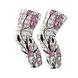 ZZKKO Ballerina-Kniebandage mit Blumenmuster, Kompressionsbandage für Meniskus, Risse, Arthritis, Laufen, Crossfit, Herren, Damen, 1 Paar