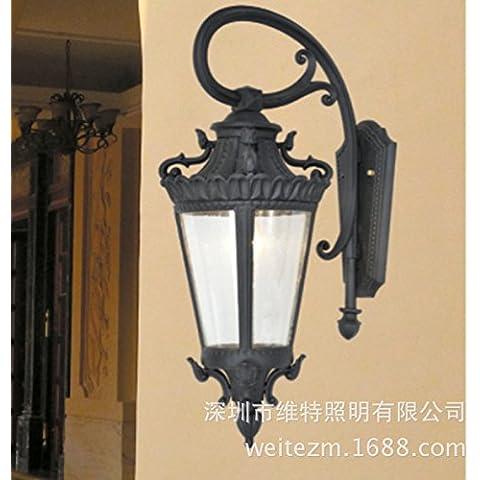 midtawer Luces de pared exterior balcón pasillo ligero continental apliques de pared y banquetas una luz creativa apliques de hierro