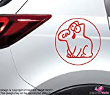 Simons Cat Rot Funny Sticker Aufkleber for Autos Trucks Vans Glass Home by Inspired Walls®