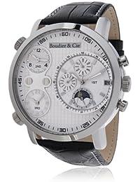 Boudier & Cie Hombre Colección Cosmos Automatic - Reloj pulsera Automático Analógico Dial multifuncional Caja de acero inoxidable y Correa de cuero Talla XL - OZG1114