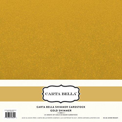 Bello Glanz (CARTA Bella Papier Gold-schimmernden Glanz Karton 111lb. Bezug)