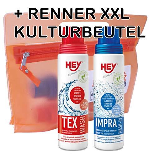 Hey Sport Doppelpack: Impra-Wash & Tex-Wash je 250 ml
