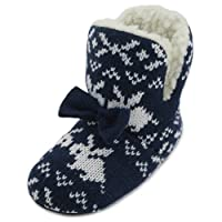 SlumberzzZ Girls Rabbit Knitted Bootie Slipper