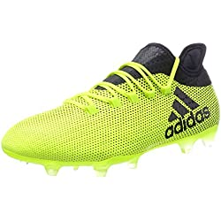 adidas X 17.2 FG, Scarpe da Calcio Uomo, Giallo (Solar Yellow/Legend Ink/Legend Ink), 44 EU