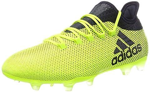 adidas X 17.2 Fg, Chaussures de Football Homme, Jaune (Solar Yellow/Legend Ink/Legend Ink), 42 EU