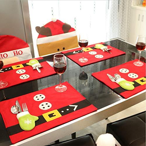 WFYY 1 Stück Einheit Weihnachtsstrümpfe Tischdecken Messer Und Gabel Matte Urlaub Dekorationen Für Zuhause Frohe Weihnachten Handwerk Liefert