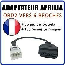 MISTER DIAGNOSTIC Adaptador OBD2 a Aprilia 6 Vías Tune ECU – Compatible ...