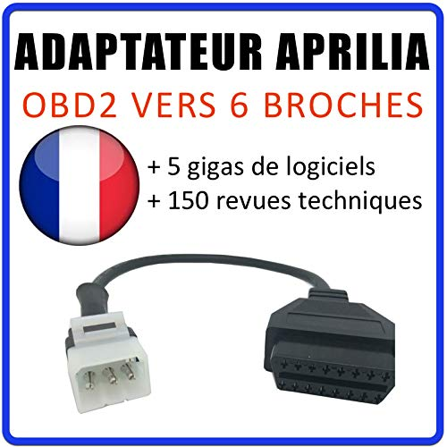 MISTER DIAGNOSTIC Adaptador OBD2 a Aprilia 6 Vías Tune ECU - Compatible con  Motos Aprilia TuneECU