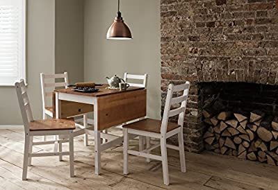 Dropleaf Dining Table with Chairs Kitchen Spacesaving Annika Noa & Nani - cheap UK light store.