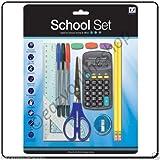 14 Pieces School Set College Office stationary set pens ruler HB pencils calculator
