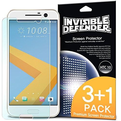 Ringke Invisible Defender [4 Stück] Kompatibel mit HTC 10 Folie Maximale HD Klarheit HTC 10 Displayschutz Perfekte Touch Präzision für HTC 10 Schutzfolie Htc Touch Defender Case