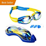 Hurdilen Kids Swim Goggles, Swim Goggles for kids Swimming Goggles with Anti-Fog UV