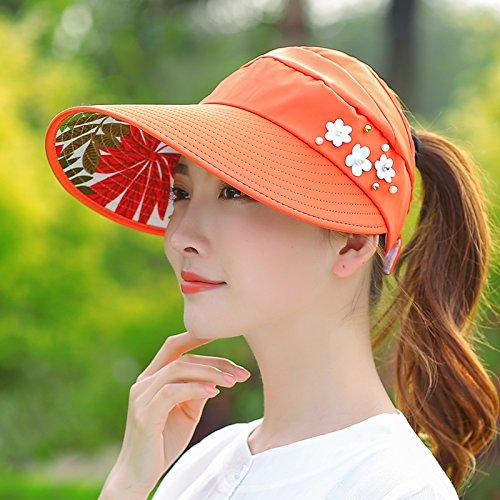 Upper-Des chapeaux peuvent être repliés de voyage de loisirs Sun Hat UV Orange 1