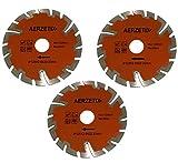 Aerzetix: 3x Disque diamant turbo segmenté 125mm 22.2mm pour meuleuse d'angle coupe carrelage béton pierre C18204