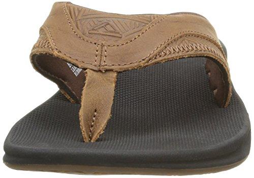 Reef Leather Fanning, Flip-Flop Homme Marron (Brown Tweed)
