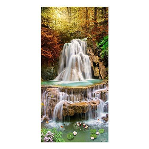 Sunnay Diamond Painting Set,Großer Wasserfall, 5D Diamant Painting Art Full Stickerei Groß Bilder DIY Diamonds Malerei,45 x 85 cm