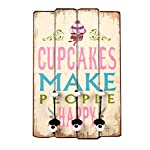 ts-ideen Wall pegs Cupcakes Style time shabby. Effect, 60 x 40 cm.
