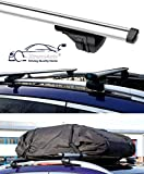 Picture Of XtremeAuto® BLACK Waterproof Car Roof Storage Cargo Bag System Complete With Lockable Roof Bars