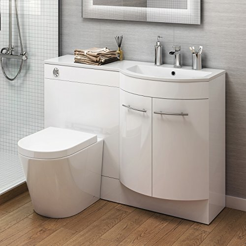 1200 mm Vanity Unit Countertop Basin + Toilet Bathroom ...