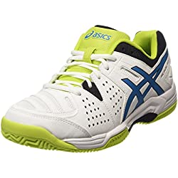 ASICS - Gel-padel Pro 3 Sg, Zapatillas de Tenis Hombre, Blanco (white/methyl Blue/lime 0142), 44.5 EU