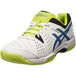 ASICS - Gel-padel Pro 3 Sg, Zapatillas de Tenis Hombre, Blanco (white/methyl Blue/lime 0142), 44.5 EU